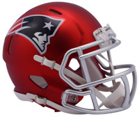 New England Patriots Blaze Alternate Speed Riddell Mini Helmet