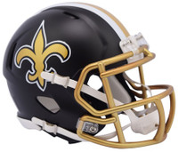 New Orleans Saints Blaze Alternate Speed Riddell Mini Helmet