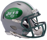 New York Jets Blaze Alternate Speed Riddell Mini Helmet