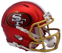 San Francisco 49ers Blaze Alternate Speed Riddell Mini Helmet