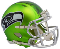 Seattle Seahawks Blaze Alternate Speed Riddell Mini Helmet