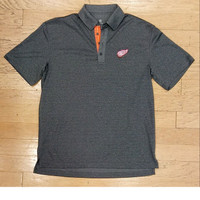 Detroit Red Wings Men's Levelwear Grey Affirmed Polo