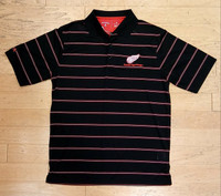 Detroit Red Wings Men's Antigua Deluxe Striped Polo