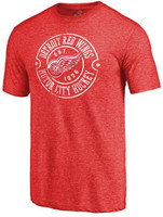 Detroit Red Wings Men's Red Fanatics Hometown Collection Tri-Blend T-Shirt