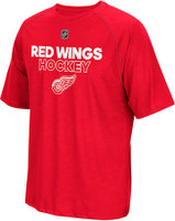 Detroit Red Wings Men's Adidas Red Authentic Ice Climalite Ultimate T-Shirt