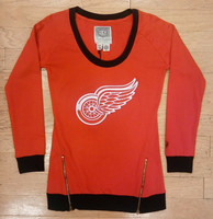 Detroit Red Wings Women's Old Time Hockey Sydney Crewneck Sweatshirt