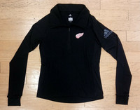 Detroit Red Wings Women's Adidas Black Quarter Zip