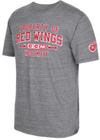 Detroit Red Wings Men's Grey CCM Property Block Tri-Blend T-Shirt