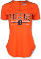 Detroit Tigers Women's Majestic Orange Tough Decision T-Shirt