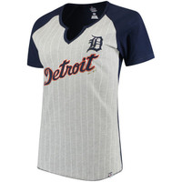 Detroit Tigers Women's Majestic From the Stretch V-Notch T-Shirt