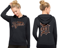 Detroit Tigers Women's 47 Brand Shimmer MVP Cross-Check Hoodie