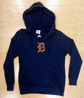 Detroit Tigers Women's Majestic Dream of Diamonds Navy Hoodie
