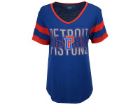 Detroit Pistons Women's 5th & Ocean Hang Time Glitter T-Shirt