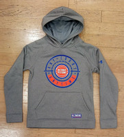 Detroit Pistons Youth Under Armour Grey Combine Hoodie
