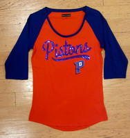Detroit Pistons Women's 5th & Ocean Sequins Raglan