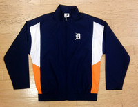 Detroit Tigers Men's Majestic Full Zip Windbreaker
