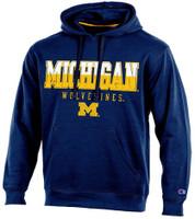 "University of Michigan Men's Champion Blue ""Huddle Up"" Hoodie"