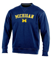 "University of Michigan Men's Champion Blue ""Safety"" Crew Sweatshirt"