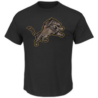 Detroit Lions Men's NFL Team Apparel Camo Tek T-shirt