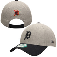 Detroit Tigers Men's New Era Heathered 9FORTY Adjustable Hat - Heather Gray