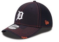 Detroit Tigers Men's New Era Navy Blue Neo 39THIRTY Stretch Fit Hat