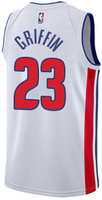 Detroit Pistons Men's Adidas Blake Griffin Home Jersey - White