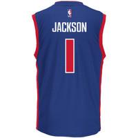 Detroit Pistons Men's Adidas Reggie Jackson Road Jersey - Blue