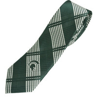 Michigan State University Eagles Wings Skinny Plaid Tie