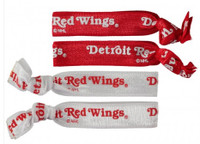 Detroit Red Wings Aminco Elastic Hair Ties 4-PACK