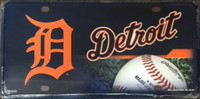 Detroit Tigers Rico Industries Metal License Plate