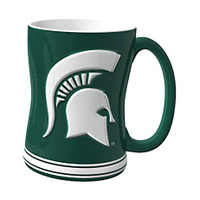 Michigan State University Boelter Brands Sculpted Coffee Mug - Green (14 oz)