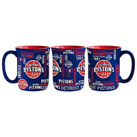 Detroit Pistons Boelter Brands Sculpted Spirit Coffee Mug - Blue (17 oz)