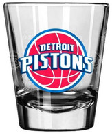 Detroit Pistons Boelter Brands Satin Etch Shot Glass
