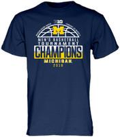 University of Michigan 2018 Big Ten Men's Basketball Conference Tournament Champions Locker Room T-Shirt
