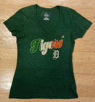 Detroit Tigers Women's Majestic St. Patrick's Day T-shirt