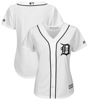 Detroit Tigers Women's Majestic Home Cool Base Jersey - White