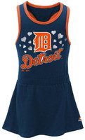 Detroit Tigers Majestic Girl's Infant Criss Cross Tank Dress