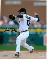 Anibal Sanchez Autographed Detroit Tigers 8x10 Photo #3 - Home Pitching (vertical)