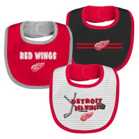 Detroit Red Wings Outerstuff Newborn 3 Piece Bib Set