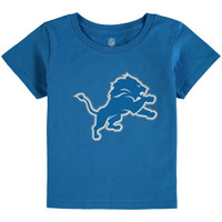 Detroit Lions Child Outerstuff Blue Logo Tshirt