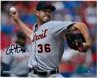 Luke Putkonen Autographed Detroit Tigers 8x10 Photo #3 - Close Up