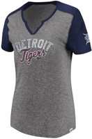 Detroit Tigers Women's Majestic Invulnerable Grey T-Shirt