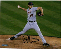 Luke Putkonen Autographed Detroit Tigers 8x10 Photo #2 - Road Pitching