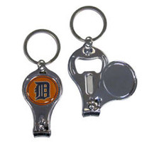 Detroit Tigers 3-IN-1 Metal Key Chain with Team Emblem