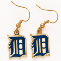 Detroit Tigers Wincraft Dangle Gold Earrings