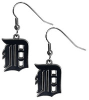 Detroit Tigers Siskiyou Sports Dangle Navy Logo Earrings