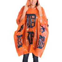 Detroit Tigers Coopersburg Sports Orange Rain Poncho