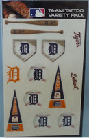 Detroit Tigers Rico Industries Team Tattoo Variety Pack