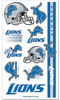 Detroit Lions Wincraft Temporary Tattoos