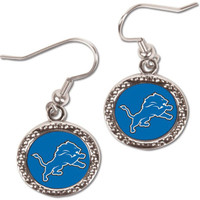 Detroit Lions Wincraft Dangle Circle Earrings